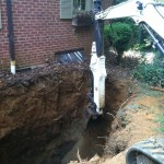 Digging up a residential oil tank